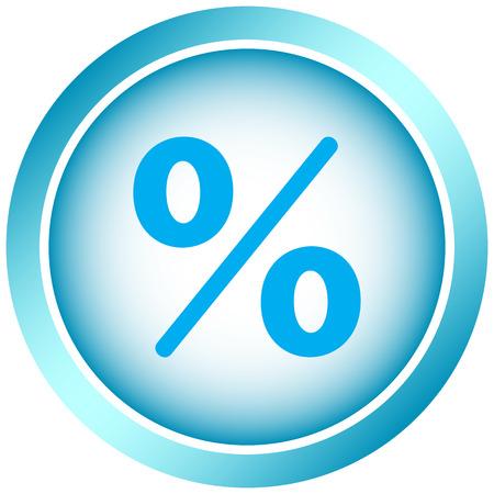 Icône avec l'image de couleur pour cent Banque d'images - 55115452