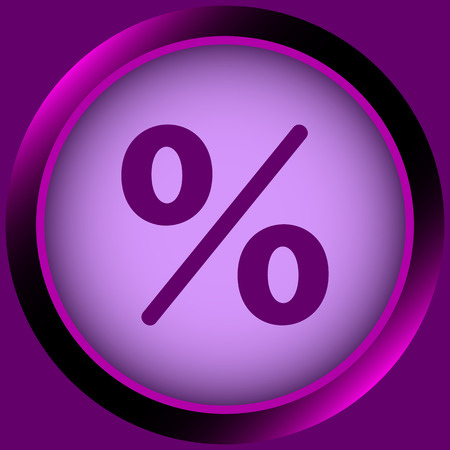 Icon with the color image of percent