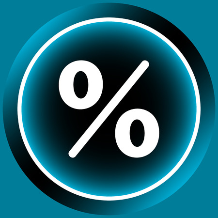 color image: Icon with the color image of percent