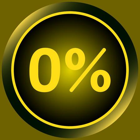 Icône avec zéro et un symbole de pour cent Banque d'images - 55320595