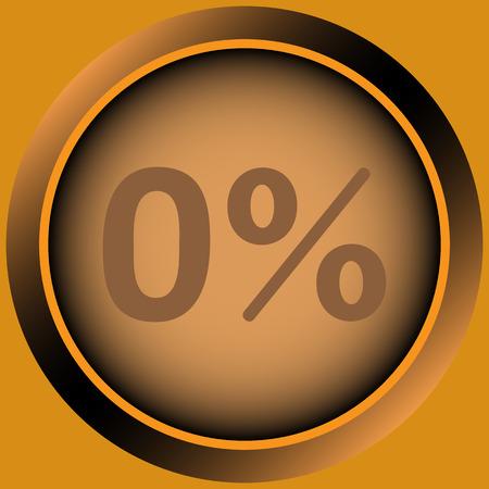 Icône avec zéro et un symbole de pour cent Banque d'images - 55320604