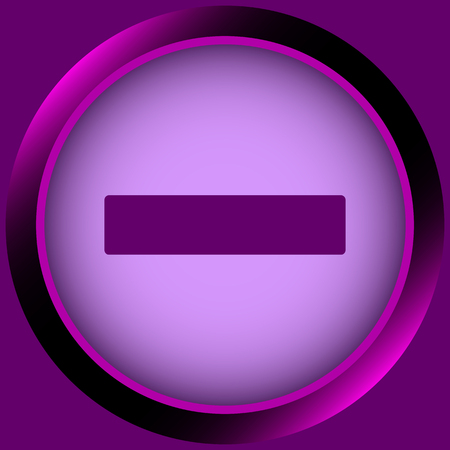 minus sign: Icon the button with a negative minus sign Illustration