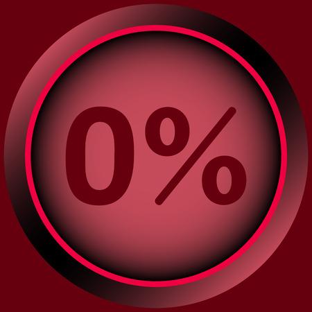Icône avec zéro et un symbole de pour cent Banque d'images - 55389682