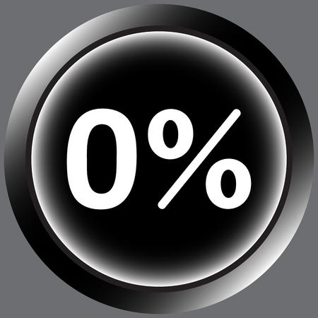 Icône avec zéro et un symbole de pour cent Banque d'images - 55534618