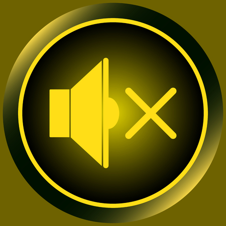 sounding: Icon with a loudspeaker symbol in the silent mode Illustration