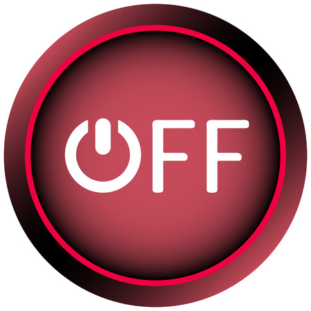 creatively: Icon graphic sign of switching off and inscription Illustration