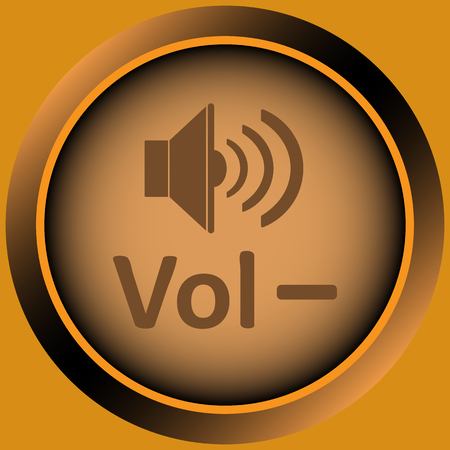 sounding: Icon with the classical image of the sound loudspeaker