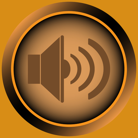 Icon with the classical image of the sound loudspeaker
