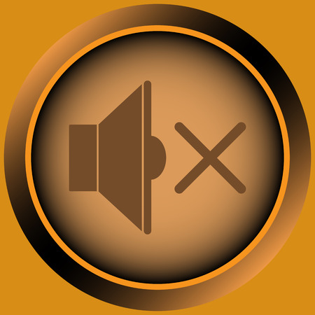 shutdown: Icon with a loudspeaker symbol in the silent mode Illustration