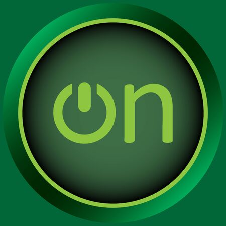 shut off: Icon with the graphic button of inclusion