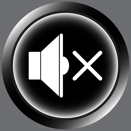 silent: Icon with a loudspeaker symbol in the silent mode Illustration