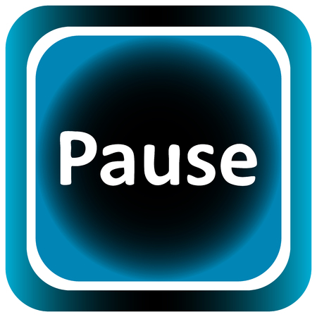 creatively: Icon the button with the pause sigh Illustration