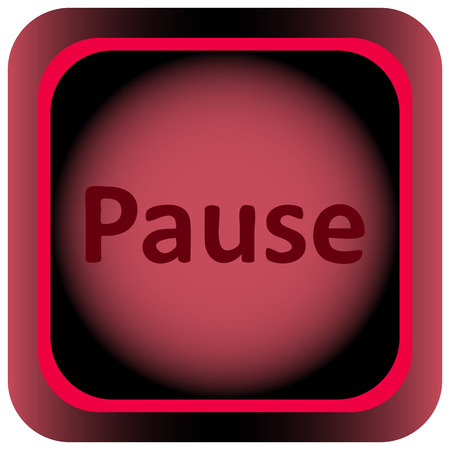 Icon the button with the pause sigh Illustration