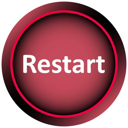 creatively: Icon the button with the word restart