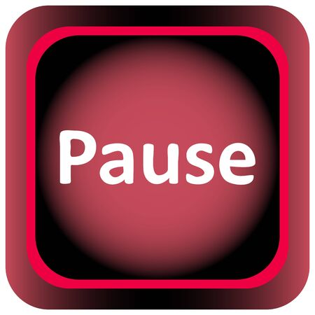 Icon the button with the pause sigh
