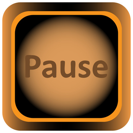 sigh: Icon the button with the pause sigh Illustration