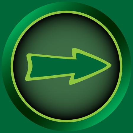 Icon the button with a conceptual pointer