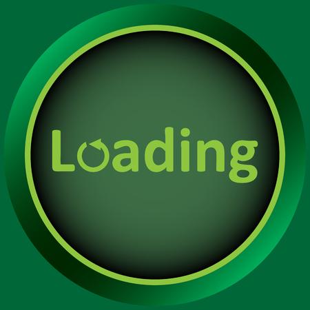 designation: Icon with a symbol of loading and designation Illustration