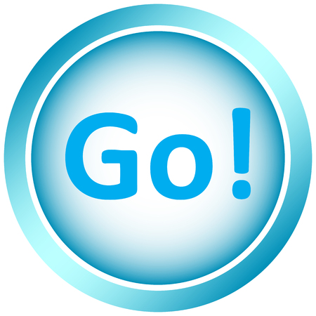 go button: Icon the button with the inscription go Illustration