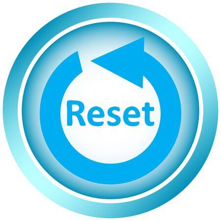 アイコン記号の再起動ボタン  イラスト・ベクター素材