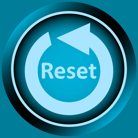 creatively: Icon the button with the restart symbol