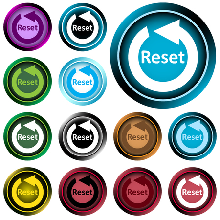restart: Icon the button with the restart symbol