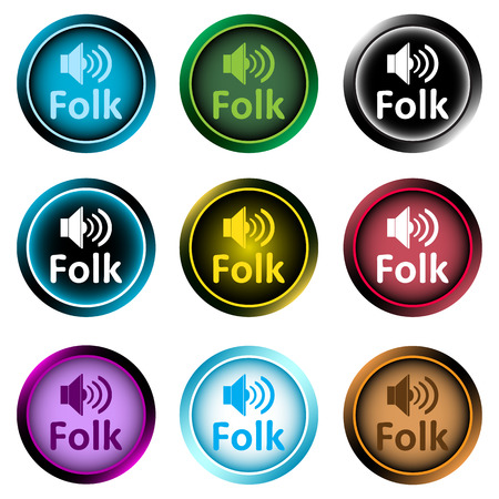 sounding: Clipart with a set of icons with musical style
