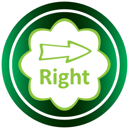 Green icon with an arrow symbol to the right