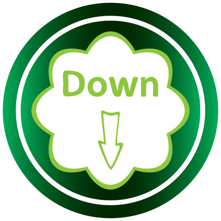 negligent: Green icon with an arrow symbol down Illustration