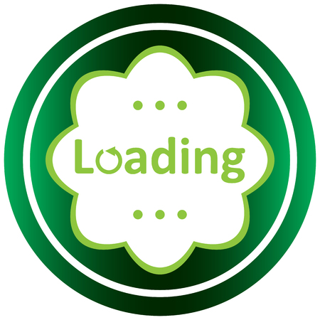 usual: Green icon with a loading symbol on white