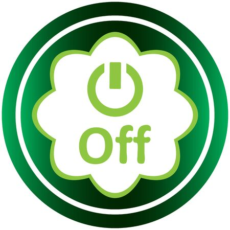 inclusion: Green icon with a symbol of inclusion and switching off