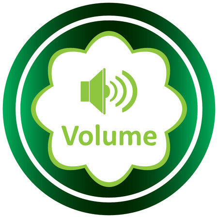 decibel: Green icon with the classical loudspeaker and a volume
