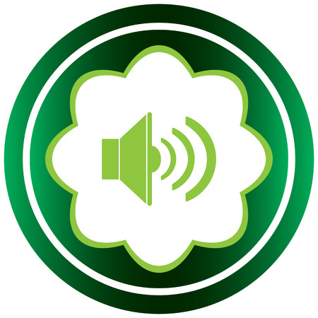 decibel: Green icon with the classical volume loudspeaker