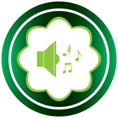 decibel: Green icon with the classical loudspeaker and music notes