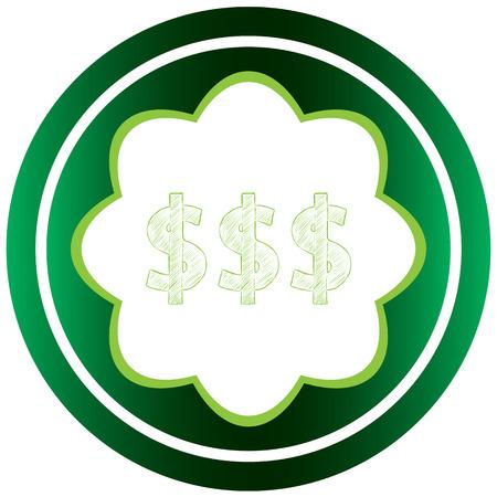 Icône verte avec des symboles d'affaires du sujet Banque d'images - 57694322