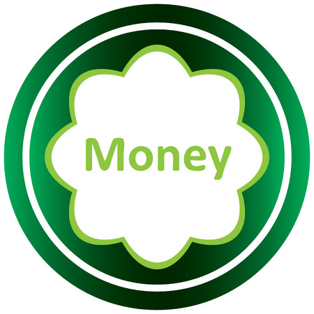 Icône verte avec des symboles d'affaires du sujet Banque d'images - 57694325