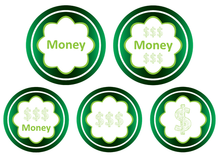 Clipart with a set of green icons business a subject Illustration
