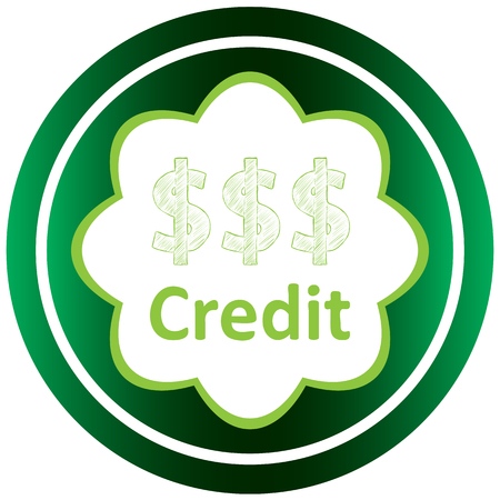 Icône verte avec des symboles d'affaires du sujet Banque d'images - 57829995