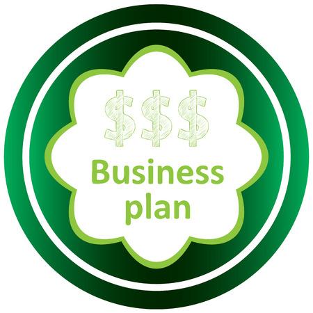 Icône verte avec des symboles d'affaires du sujet Banque d'images - 57829997