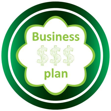 Icône verte avec des symboles d'affaires du sujet Banque d'images - 57829998