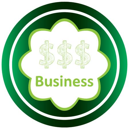 Icône verte avec des symboles d'affaires du sujet Banque d'images - 57829999