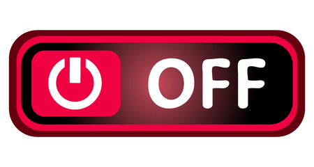 switching: Long icon with a symbol of switching off Illustration