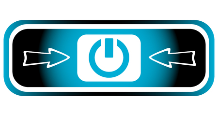 disconnected: Long blue icon with inclusion symbol and arrow Illustration