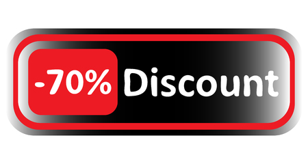 Long icon at a discount and percent Illustration