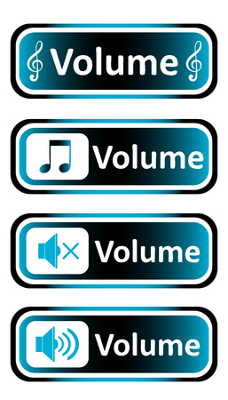 sounding: Long icon clipart sound symbol and the inscription volume