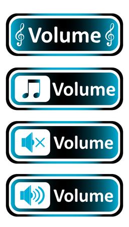 decibel: Long icon clipart sound symbol and the inscription volume
