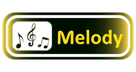 melody: Long icon with a yellow gradient and the inscription melody