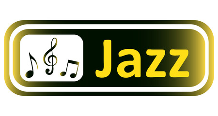 sounding: Long icon with a yellow gradient and the inscription jazz