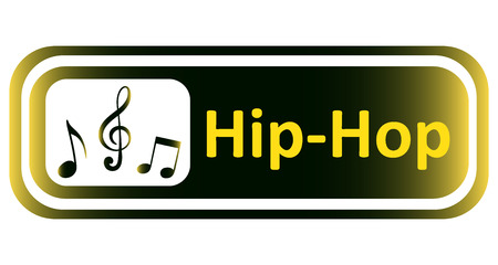 hiphop: Long icon with a yellow gradient and the inscription hip-hop