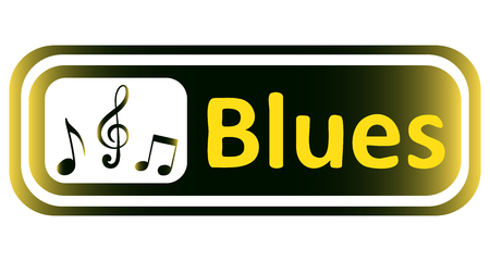 blues: Long icon with a yellow gradient and the inscription blues
